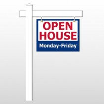 """Open House 22 18""""H x 24""""W Swing Arm Sign"""