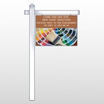 """Paint Brushes 256 18""""H x 24""""W Swing Arm Sign"""