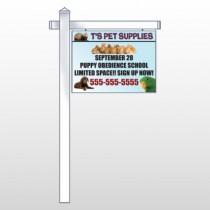 "Pet Supplies 305 18""H x 24""W Swing Arm Sign"
