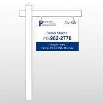 "Platinum 7 18""H x 24""W Swing Arm Sign"