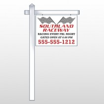"Racetrack 31 18""H x 24""W Swing Arm Sign"