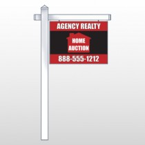 "Red House Auction 252 18""H x 24""W Swing Arm Sign"