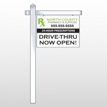 "RX North County 105 18""H x 24""W Swing Arm Sign"