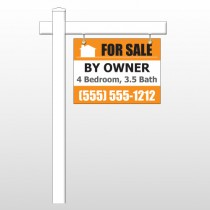 "Sale By Owner 27 18""H x 24""W Swing Arm Sign"