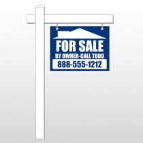 "Sale By Owner 28 18""H x 24""W Swing Arm Sign"