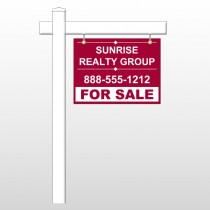 "Sunrise 16 18""H x 24""W Swing Arm Sign"
