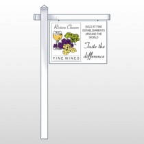 "Wine 145 18""H x 24""W Swing Arm Sign"