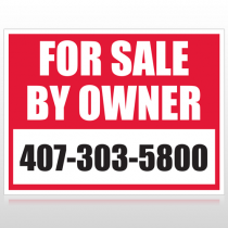 Sale By Owner 13 Custom Sign
