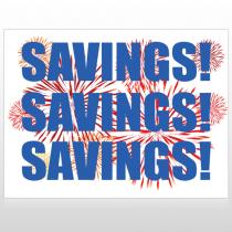 Savings 167 Custom Sign