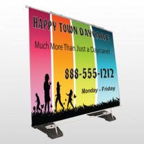 Happy Town 181 Exterior Pocket Banner Stand