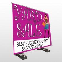Pink Girl Sale 552 Exterior Pocket Banner Stand