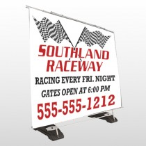 Racetrack 31 Exterior Pocket Banner Stand