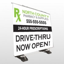 RX North County 105 Exterior  Pocket Banner Stand