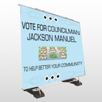 Vote Community 266 Exterior Pocket Banner Stand