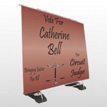 Vote Scale Judge 264 Exterior Pocket Banner Stand