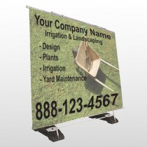 Wheel Barrow 261 Exterior Pocket Banner Stand