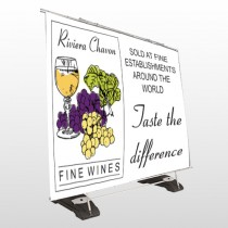 Wine 145 Exterior Pocket Banner Stand