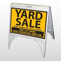 Yellow Black 551 A Frame Sign