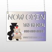 Nurse Bear 504 Window Sign