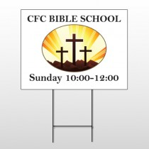 3 Crosses 149 Wire Frame Sign