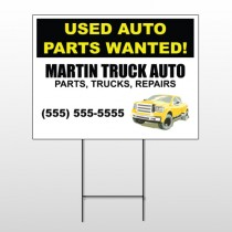 Black & Yellow Truck 326 Wire Frame Sign
