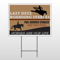 Boarding Stable 304 Wire Frame Sign