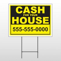 Cash For House 121 Wire Frame Sign