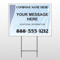 Finance Graph 175 Wire Frame Sign