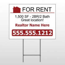 For Rent 106 Wire Frame Sign