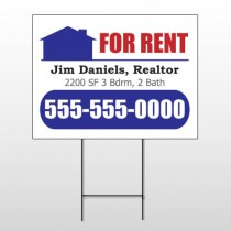 For Rent 122 Wire Frame Sign