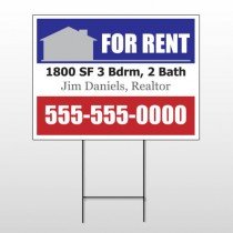 For Rent 123 Wire Frame Sign