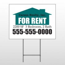 For Rent 125 Wire Frame Sign