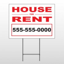 For Rent 139 Wire Frame Sign