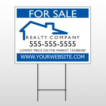 For Sale 110 Wire Frame Sign