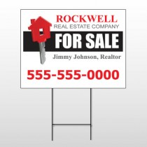 For Sale Key 132 Wire Frame Sign