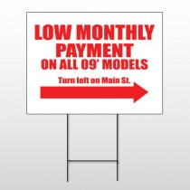 Low Monthly 116 Wire Frame Sign