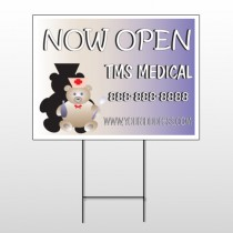 Nurse Bear 504 Wire Frame Sign