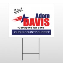 Political 10 Wire Frame Sign