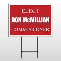 Political 26 Wire Frame Sign