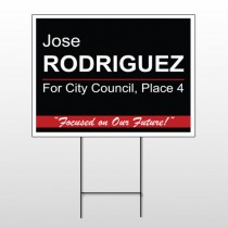 Political 37 Wire Frame Sign