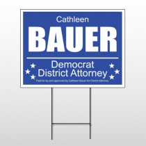 Political 43 Wire Frame Sign