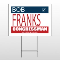 Political 6 Wire Frame Sign
