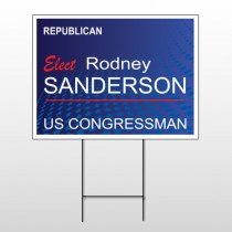 Political 9 Wire Frame Sign