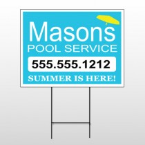 Pool Service 85 Wire Frame Sign