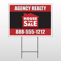Red House Sale 254 Wire Frame Sign