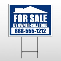 Sale By Owner 28 Wire Frame Sign