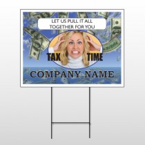 Tax Time 153 Wire Frame Sign