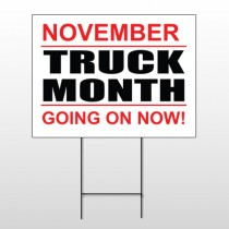 Truck Month 118 Wire Frame Sign
