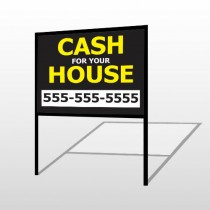 Cash For House 107 H-Frame Sign