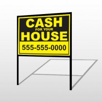 Cash For House 121 H-Frame Sign